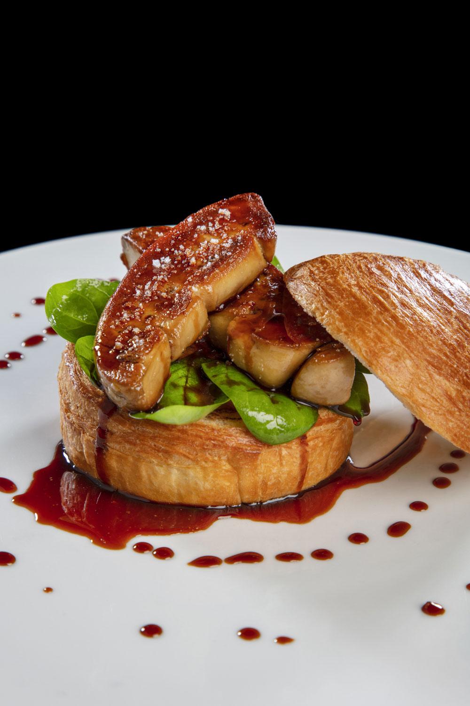 Foie gras poêlé dans son buns